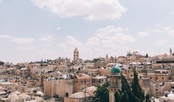 L'horizon de la ville historique de Jérusalem en Israël