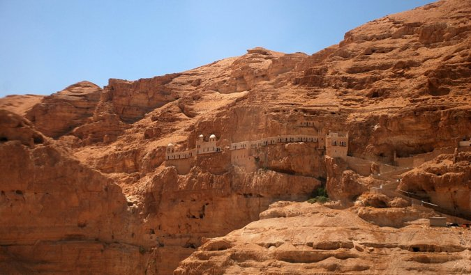 L'ancien monastère près de Jéricho, Israël