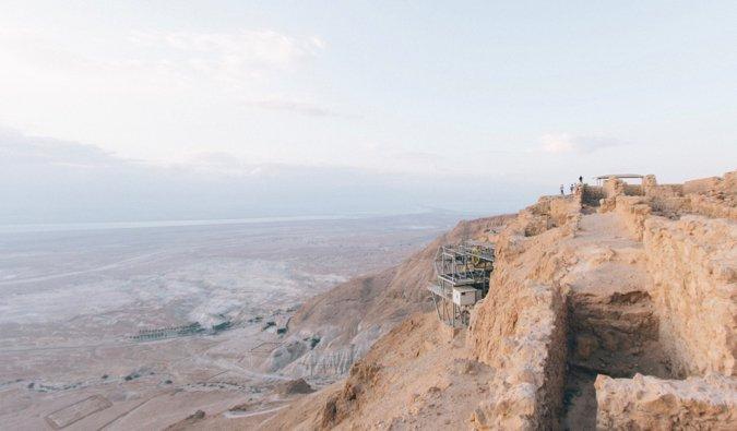 Le fort de Massada et le parc national en Israël