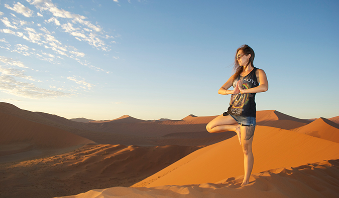 Kristin Addis en Namibie