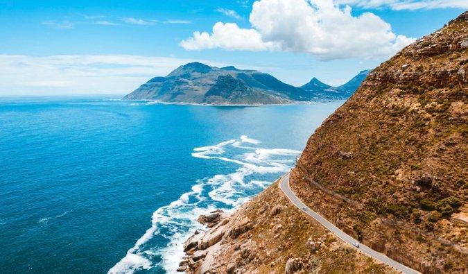 La route côtière près de Cape Town, Afrique du Sud